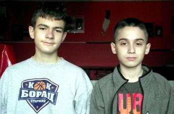 Lica s naslovnice: Aleksa Živanović i Aleksandar Milanović, košarkaši